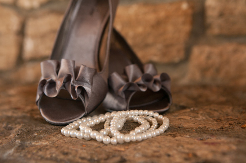 Alaska Wedding Necklace and Shoes